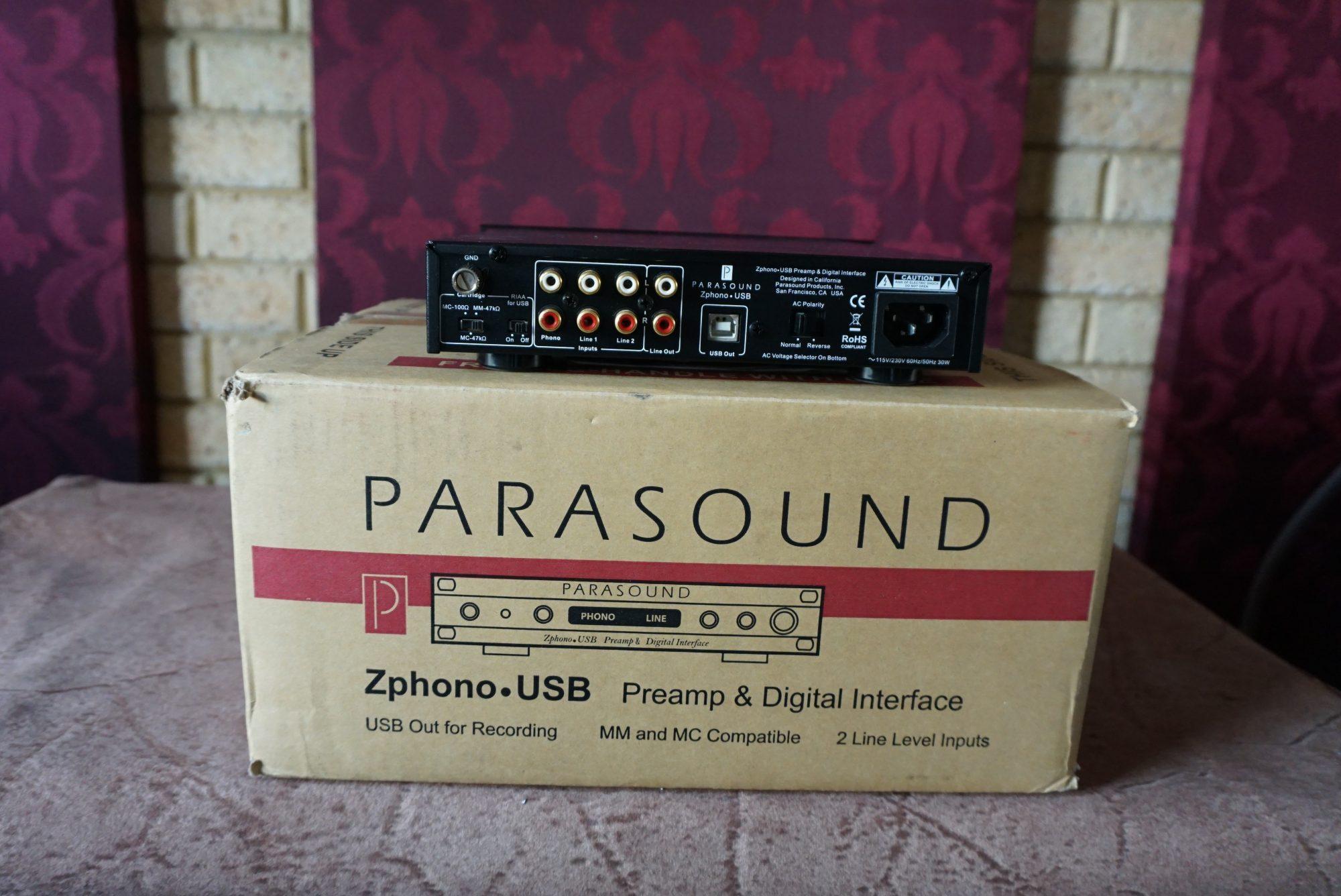 Parasound Z Phono Usb Pre Amplifier Amp Digital Interface